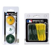 MLB Oakland Athletics Golf Ball and Golf Tee Pack