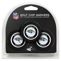 NFL Baltimore Ravens Golf Chip Ball Markers (Set of 3)