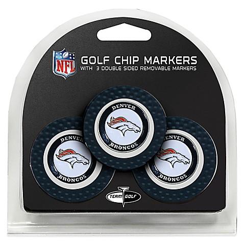 NFL Denver Broncos Golf Chip Ball Markers (Set of 3) - www ...