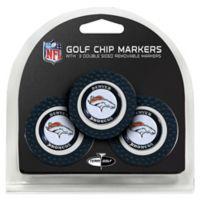 NFL Denver Broncos Golf Chip Ball Markers (Set of 3)