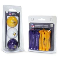 NFL Minnesota Vikings Golf Ball and Tee Pack
