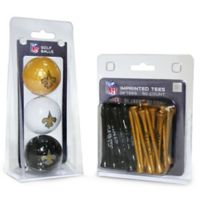 NFL New Orleans Saints Golf Ball and Tee Pack