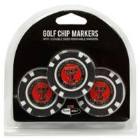 NCAA Texas Tech University Golf Chip Ball Markers (Set of 3)