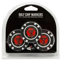 NCAA Texas Tech University Golf Chip Ball Markers (Set of 3)