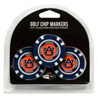 NCAA Auburn University Golf Chip Ball Markers (Set of 3)