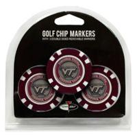 NCAA Virginia Tech Golf Chip Ball Markers (Set of 3)