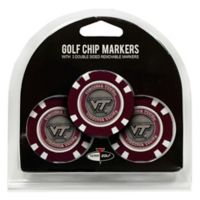 NCAA Virginia Tech Golf Chip Ball Markers (Set of 3)