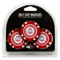 NCAA Ohio State University Golf Chip Ball Markers (Set of 3)