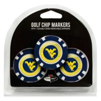 NCAA West Virginia University Golf Chip Ball Markers (Set of 3)