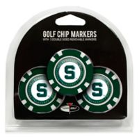 NCAA Michigan State University Golf Chip Ball Markers (Set of 3)