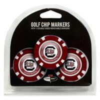NCAA University of South Carolina Golf Chip Ball Markers (Set of 3)