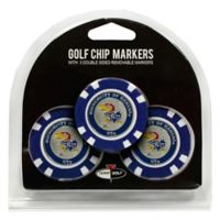 NCAA University of Kansas Golf Chip Ball Markers (Set of 3)