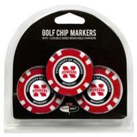 NCAA University of Nebraska Golf Chip Ball Markers (Set of 3)