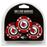 NCAA University of Louisville Golf Chip Ball Markers (Set of 3)