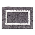 Wamsutta® Reversible 17-Inch x 24-Inch Bath Rug in White/Charcoal
