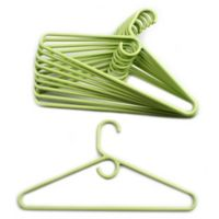 Merrick 72-Count Value Pack Heavyweight Hangers in Lime Green