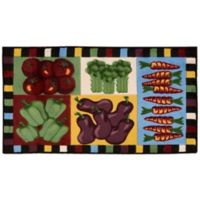 Nourison 40-Inch x 22-Inch Vegetables Kitchen Rug in Multicolor