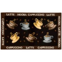 Nourison 27-Inch x 45-Inch Coffee Cup Kitchen Rug in Black