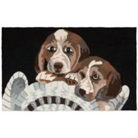 Nourison 32-Inch x 20-Inch Beagle Dog Kitchen Rug in Black