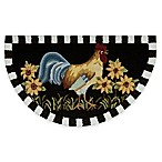 Nourison 32-Inch x 19-Inch Rooster Kitchen Rug in Black