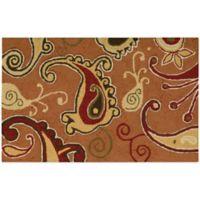 Nourison Paisley 33-Inch x 20-Inch Kitchen Rug in Orange