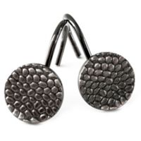 Pebble Shower Curtain Hooks in Pewter (Set of 12)