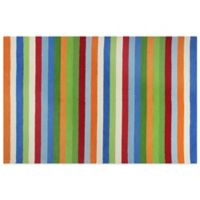 KAS Kidding Around Cool Stripes 3-Foot 3-Inch x 5-Foot 3-Inch Area Rug in Multi