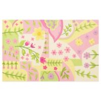 KAS Kidding Around Princess Dreams 2-Foot x 3-Foot Area Rug in Pink/Green/Multi