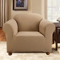 Sure Fit® Simple Stretch Subway Tile 1-Piece Chair Slipcover