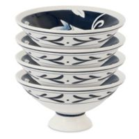 Fitz and Floyd® Bristol Indigo Floral Footed Bowls (Set of 4)