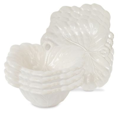 Fitz and Floyd® Bristol Appetizer Plates and Snack Bowls in Crème (Set of 4  sc 1 st  Bed Bath \u0026 Beyond & Buy Fitz and Floyd Everyday Dinnerware from Bed Bath \u0026 Beyond
