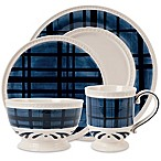 Fitz and Floyd® Bristol Indigo Tartan Dinnerware Collection