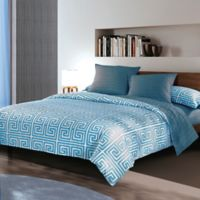 Sherry Kline Labyrinth Reversible Queen Comforter Set in Blue