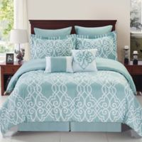 Dawson Reversible 6-Piece Twin Comforter Set in Blue/White