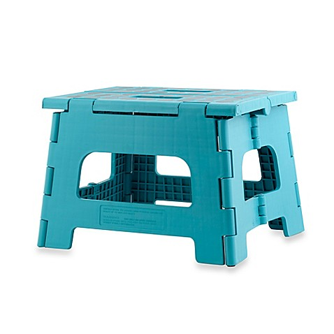 Buy Kikkerland 174 Easy Folding Step Stool In Aqua From Bed