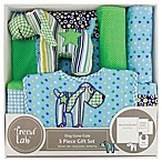 Trend Lab® 5-Piece Dog Gone Cute Welcome Baby Essentials Gift Set in Green/Blue