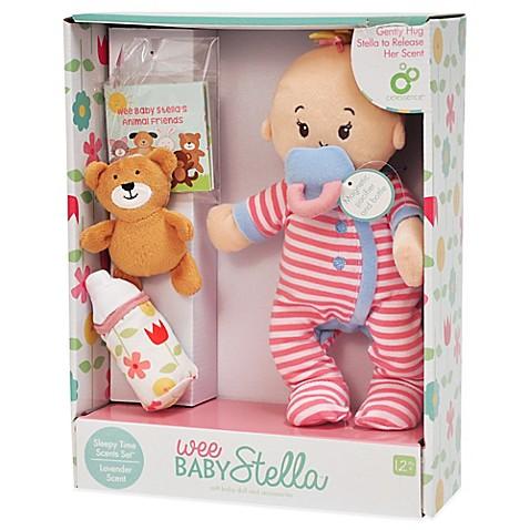 Manhattan Toy 174 Wee Baby Stella Sleepy Time Doll Set With