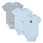 Little Me® Size 6M 3-Pack Monkey Star Bodysuits in Blue