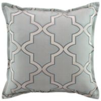 Austin Horn En'Vogue Glamour Square Throw Pillow in Spa Blue