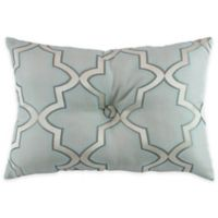 Austin Horn En'Vogue Glamour Oblong Throw Pillow in Spa Blue