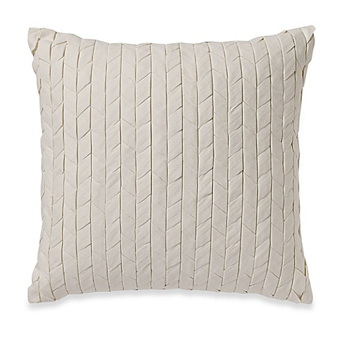 Wamsutta Essex Down Alternative Square Throw Pillow in Ivory - Bed Bath & Beyond
