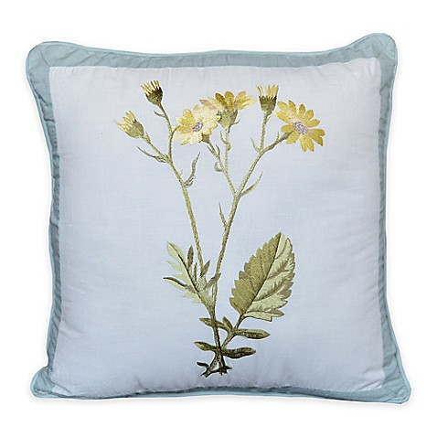 Nostalgia Home Josephine Square Throw Pillow in Yellow - Bed Bath & Beyond