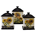Certified International French Sunflower 3-Piece Canister Set