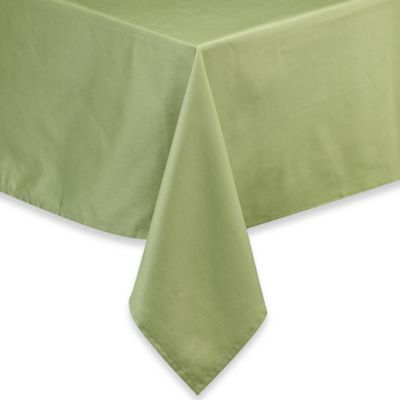 Newport 70 Inch Round Tablecloth In Green