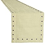 Monroe Studded 72-Inch Woven and Crafted Runner in Ivory