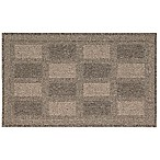 Nourison Grid 1-Foot 6-Inch x 2-Foot 6-Inch Kitchen Rug in Taupe