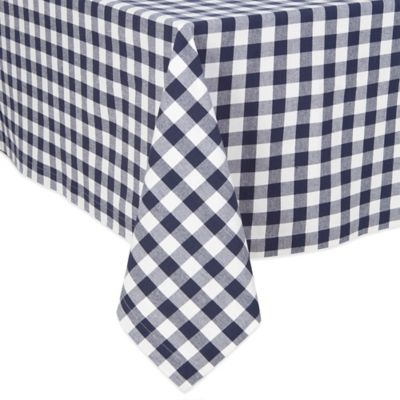 Buffalo Check 52 Inch X 70 Inch Oblong Tablecloth In Navy
