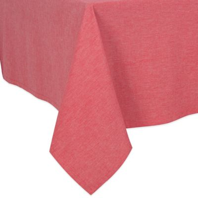 Charming Chambray 70 Inch Square Tablecloth In Red