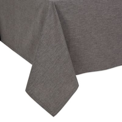 Merveilleux Chambray 70 Inch Square Tablecloth In Black