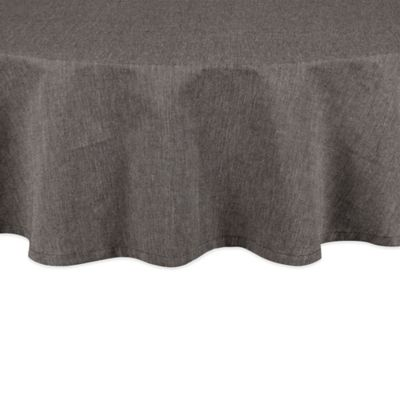 Chambray 70 Inch Round Tablecloth In Black